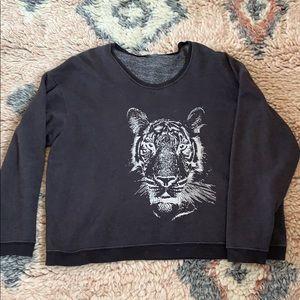 Wildfox over sized tiger sweatshirt